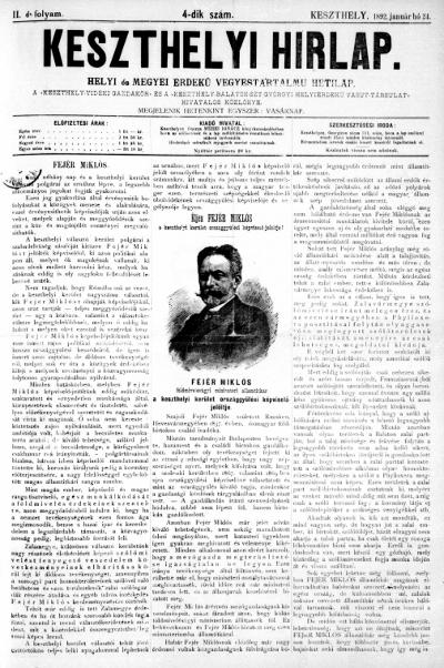 Keszthelyi Hirlap 1892.01.24.