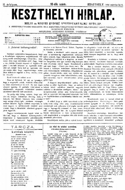 Keszthelyi Hirlap 1892.03.06.