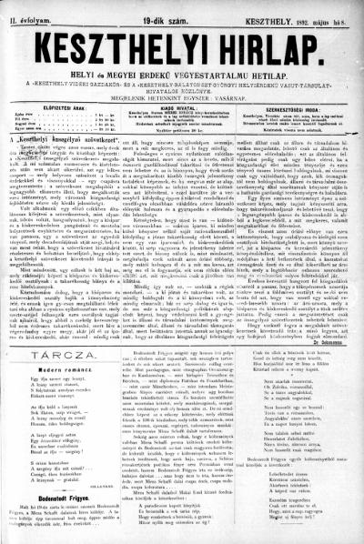 Keszthelyi Hirlap 1892.05.08.