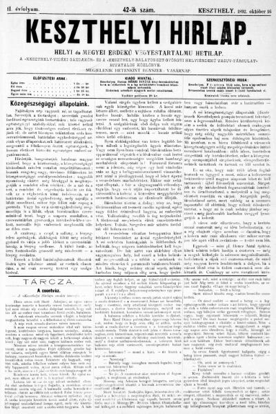 Keszthelyi Hirlap 1892.10.16.