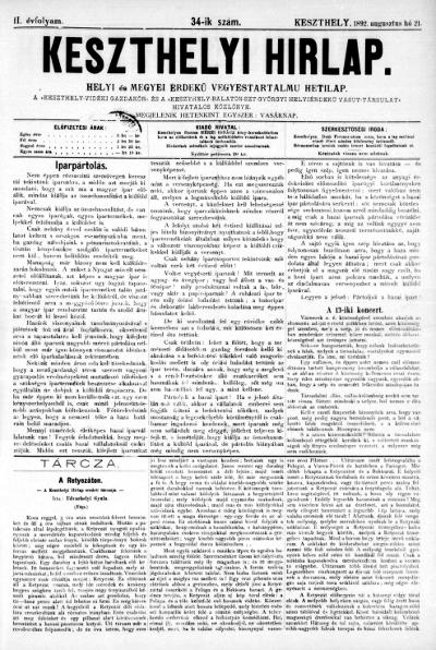 Keszthelyi Hirlap 1892.08.21.