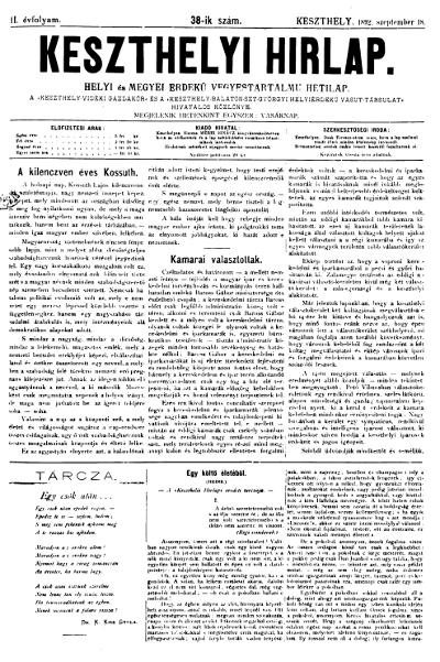Keszthelyi Hirlap 1892.09.18.