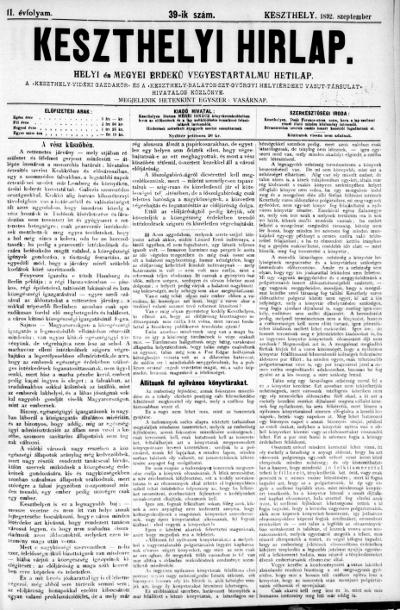 Keszthelyi Hirlap 1892.09.25.