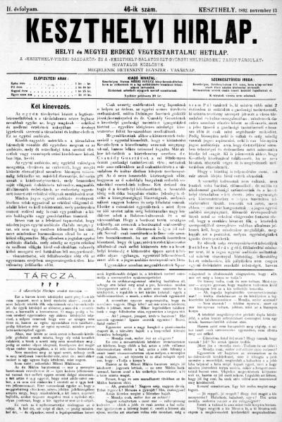 Keszthelyi Hirlap 1892.11.13.