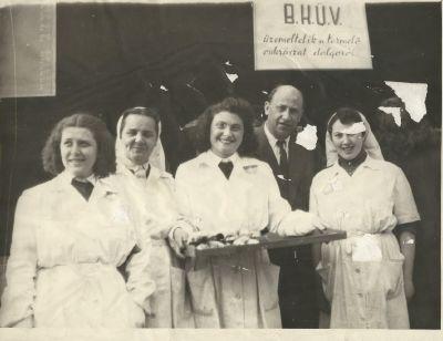 B.K.Ü.V. Termelői Cukrászat dolgozói, Budapest 1953