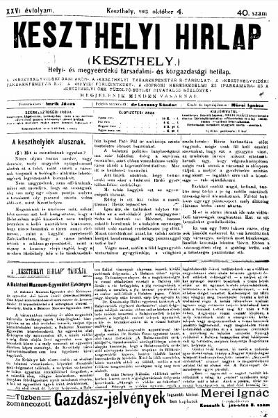 Keszthelyi Hirlap 1903.10.04.