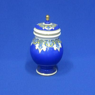 Mokka cukortartó fedővel, porcelán