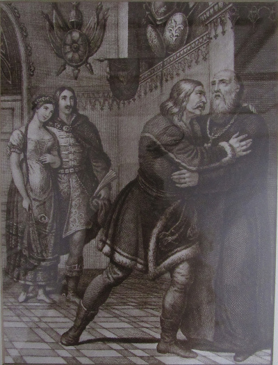 Kisfaludy Károly: Tihamér illusztráció