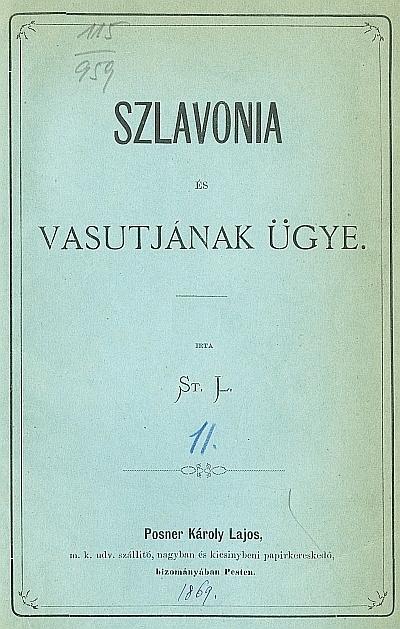 Szlavonia és vasutjának ügye