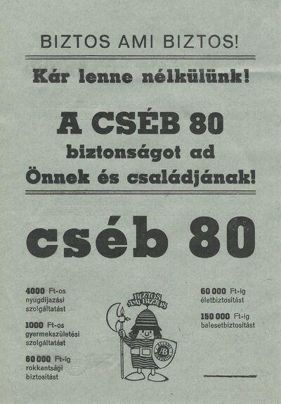 CSÉB 80 és IBUSZ hirdetés
