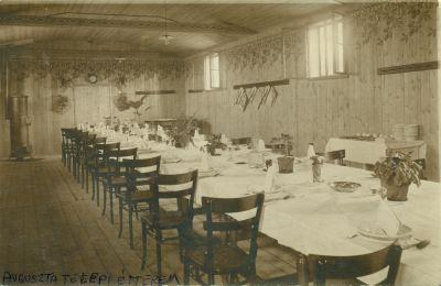 Auguszta telepi étterem - képeslap, Budapest, 1915