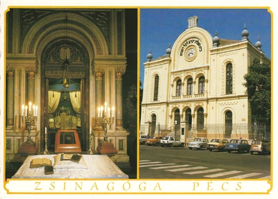 Pécsi zsinagóga 1987-ben