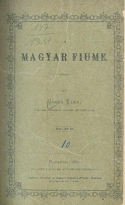 A magyar Fiume