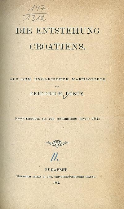 Die Entstehung Croatiens