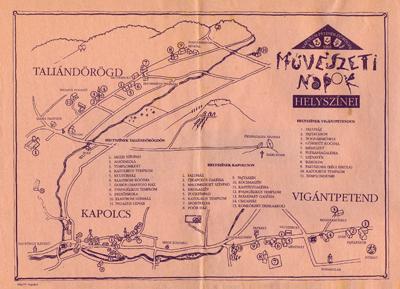 Kapolcsi - Petendi - Dörögdi Művészeti Napok helyszínei