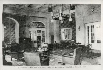 Thermia Szálloda előcsarnoka, Pöstyén, 1910-es évek vége
