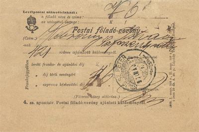 Postai föladó-vevény