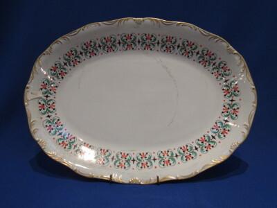Pecsenyés tál, porcelán