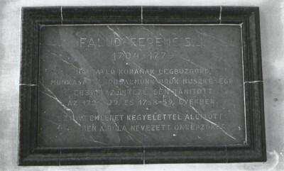 Faludi Ferenc emléktábla