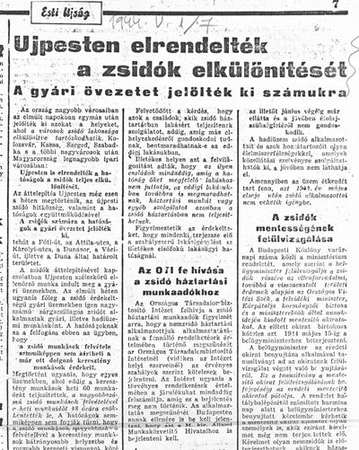Esti Ujság - 1944. május 1. - újságcikk