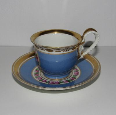 Bécsi porcelán csésze aljjal