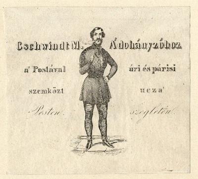 A Dohányzóhoz hirdetése, Gschwindt M., Pesten