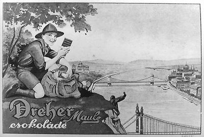 Dréher Maul csokoládé hirdetése, 1919-1939
