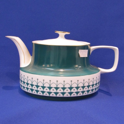198. Teás kanna fedővel, porcelán