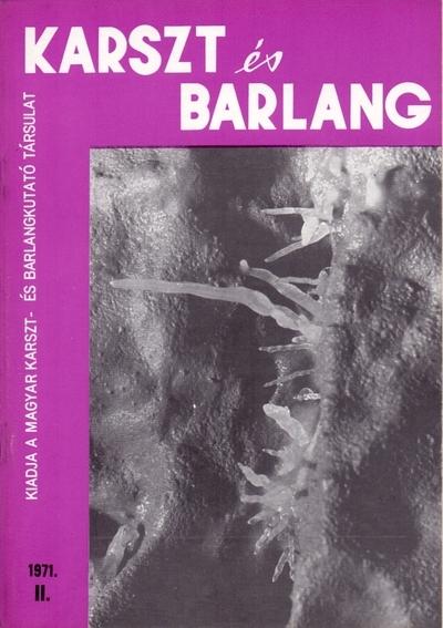 Karszt és barlang 1971. II.