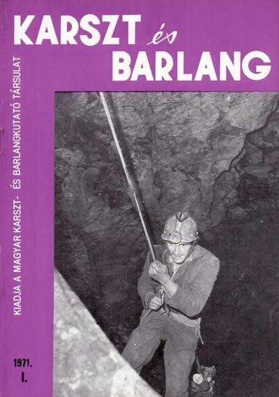 Karszt és barlang 1971. I.