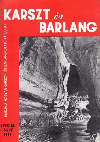 Karszt és barlang 1977 Special issue