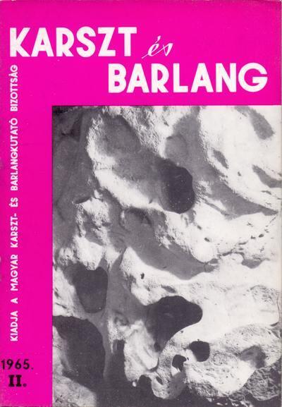 Karszt és barlang 1965. II.