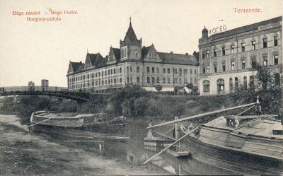 Royal Szálloda, Horgony Palota - képeslap, Temesvár, 1912