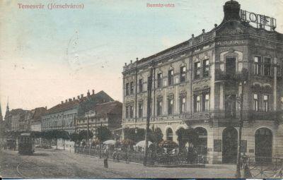 Royal Szálloda - képeslap, Temesvár, 1914