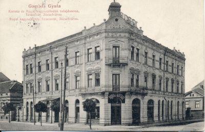 Royal Szálloda - képeslap, Temesvár, 1913