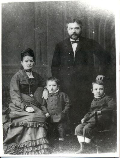 Caflisch Kristóf és családja
