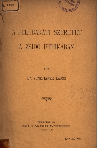 A felebaráti szeretet a zsidó ethikában