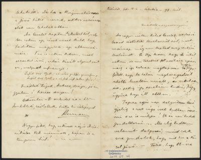 Herrmann Antal levele Heller Júliának