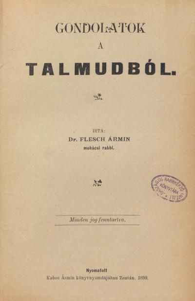 Gondolatok a Talmudból