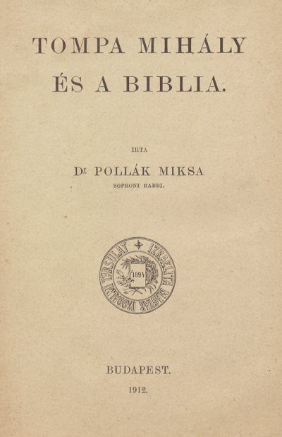 Tompa Mihály és a Biblia