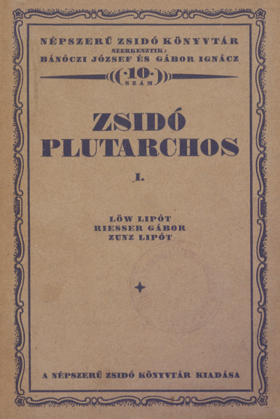 Zsidó Plutarchos, I.