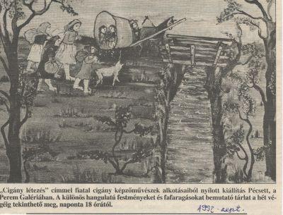 Cigány létezés c. kiállítás a pécsi Perem Galériában - fotó