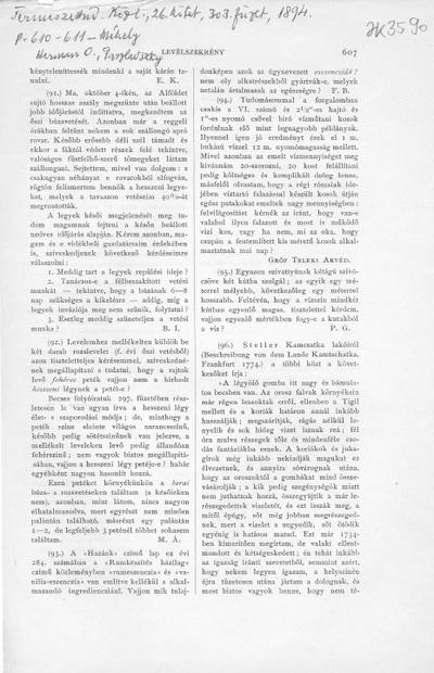 Vita Méhely Lajos a Természettudományi Közlöny októberi füzetében megjelent cikkéről