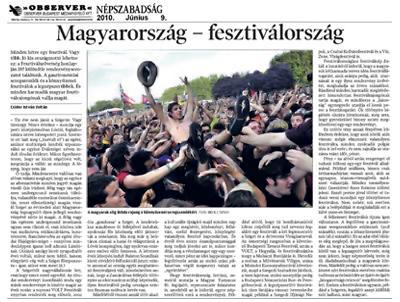 Magyarország - fesztiválország