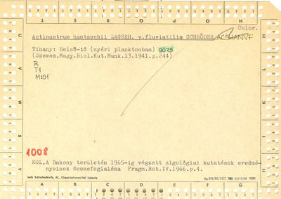 Actinastrum hantzschii var fluviatilis