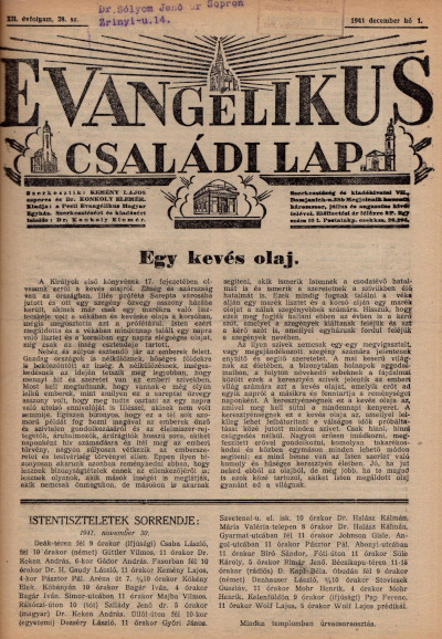 Evangélikus Családi Lap
