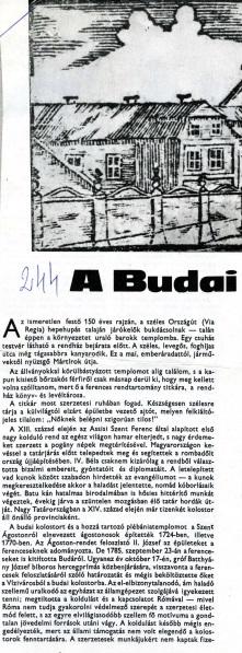 A Budai Ferences Rendház