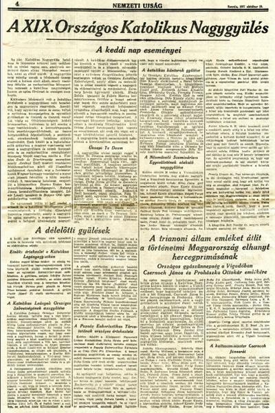 A XIX. Országos Katolikus Nagygyűlés