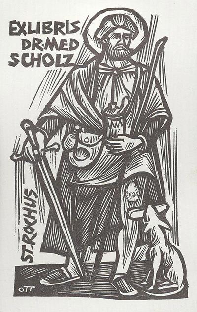 Ex-libris Dr. Med Sholcz  - St. Rochus