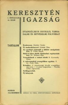 Keresztyén Igazság 1934 (január)